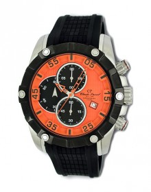 Chronograph Herrenuhr orange Claude Pascal 3481518