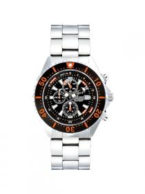 Chris Benz Depthmeter Chronograph 300M Taucheruhr Korallenorange